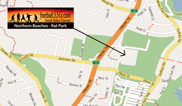 FootballSSG competitions are held at Pittwater Rat Park, North Narrabeen and Brookvale Oval, Brookvale